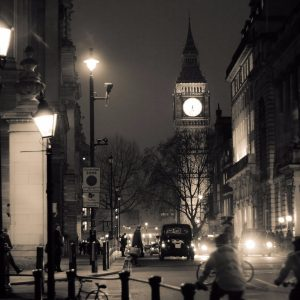 Walking-in-cold-London
