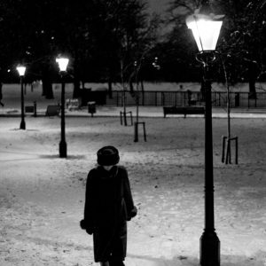Alone in a snow night